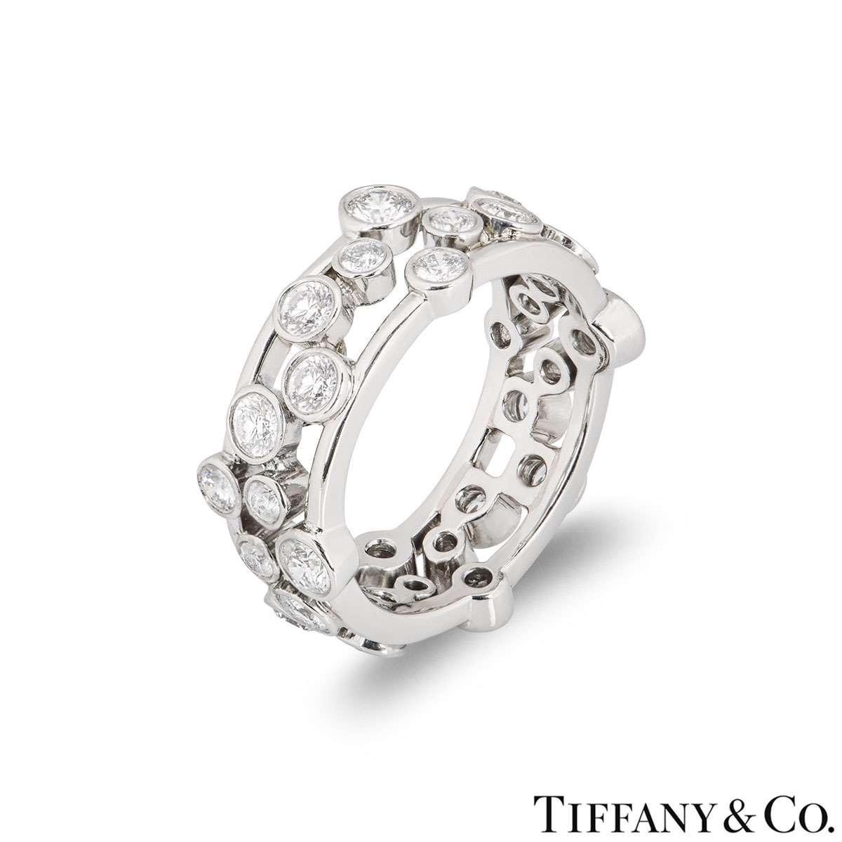 Tiffany & Co. Platinum Diamond Bubble Ring